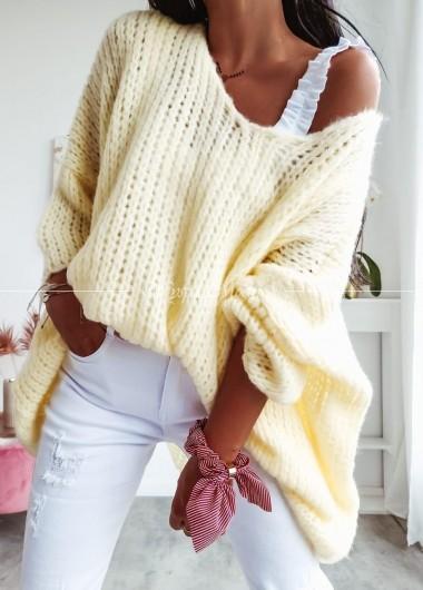 Sweterek oversize yellow