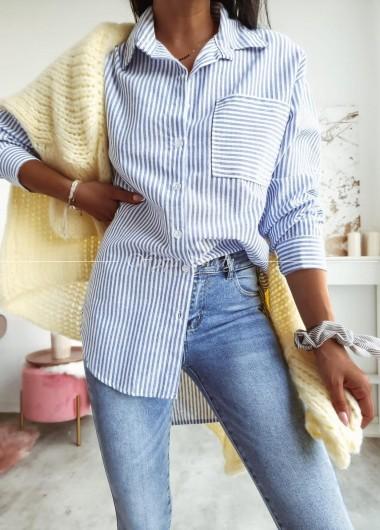 Koszula paski blue&white