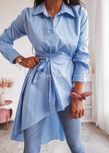 koszula Asymetryczna blue
