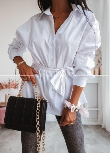 Koszula wiązana white