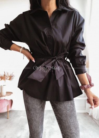 Koszula wiązana black