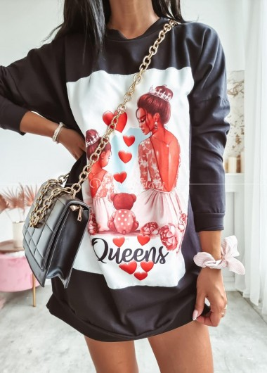 Tunika Queens black