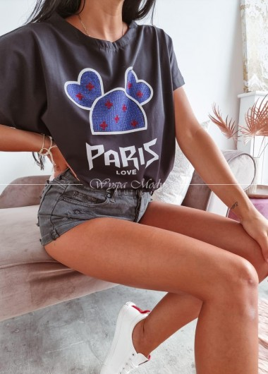 T-shirt paris love black