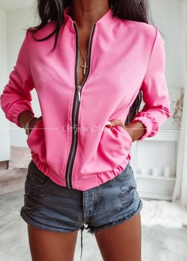 Bomberka neon pink
