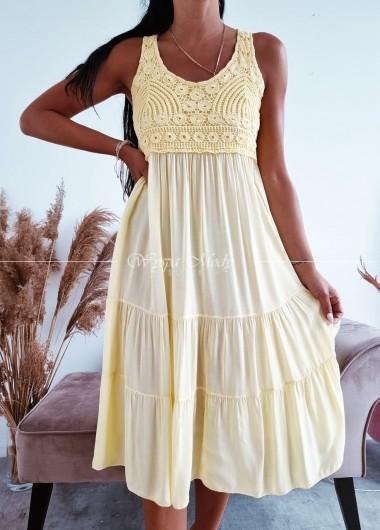 Sukienka safari yellow
