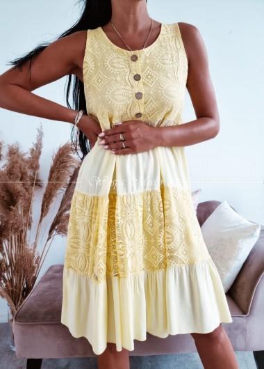 Sukienka ingrid yellow