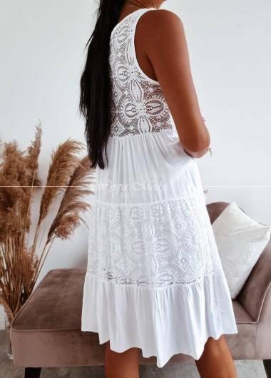 Sukienka Ingrid white