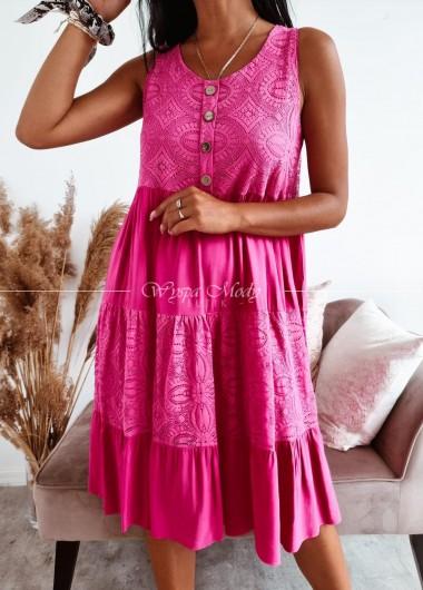 Sukienka ingrid fuksja