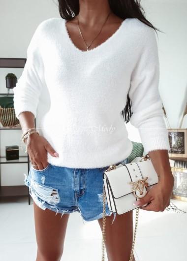 Sweterek soft white