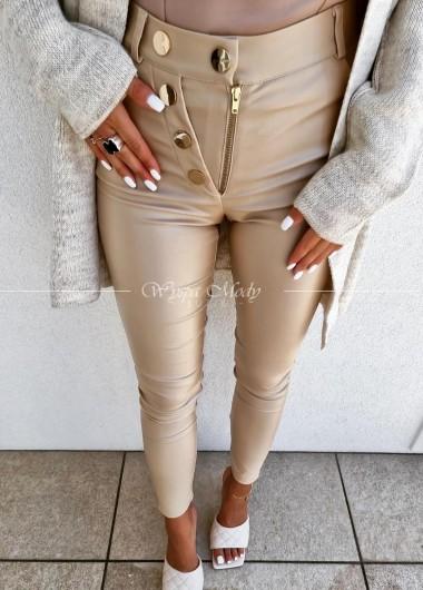 spodnie woskowane gold