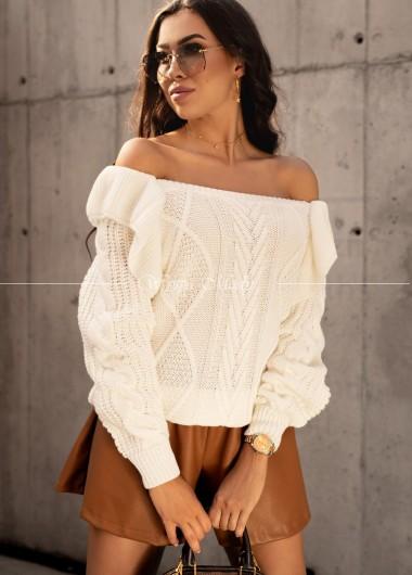Sweterek Camilla ecru