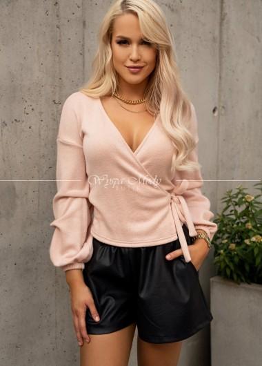 Sweterek kopertowy pink