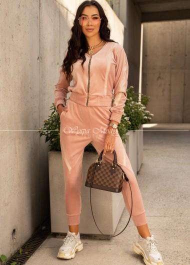 Komplet welurowy Palermo pink
