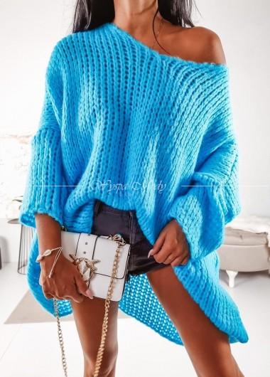 Sweterek Long Lazur