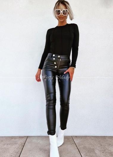 Spodnie woskowane black
