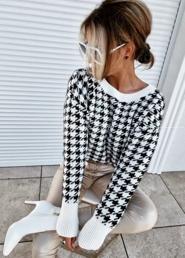 Sweter pepitka black&white