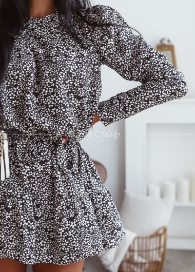 Sukienka MARISA black&white