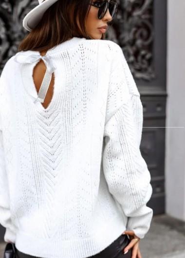 Sweter Aria white ( czas realizacji do 10 dni roboczych)