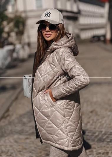 Płaszcz pikowany exlusive Beige 10 dni roboczych