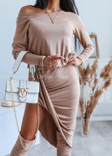 sukienka eveline beige