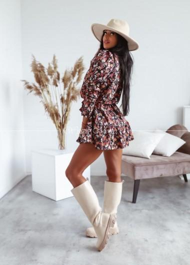 Sukienka morgan z regulacja długosci