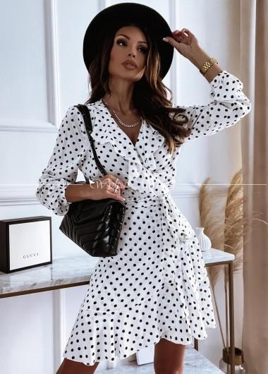 sukienka w groszki white