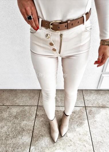 Spodnie woskowane light beige