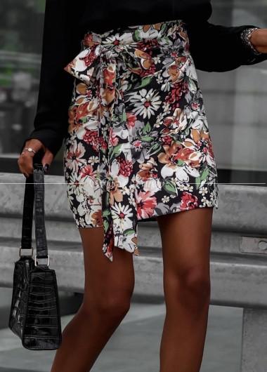 Spódniczka Persja black flowers