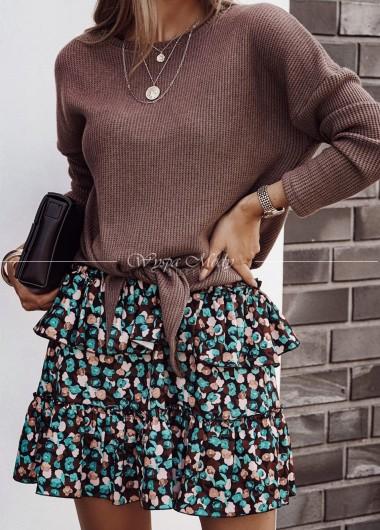 Wiązany sweterek Brown Xana
