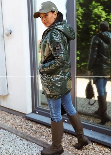 płaszczyk pikowany jesienno- zimowy veri khaki