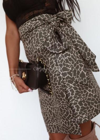 Spódniczka giraffe khaki