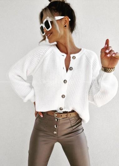 Sweter Paris white