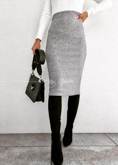 Spódnica ołówkowa grey