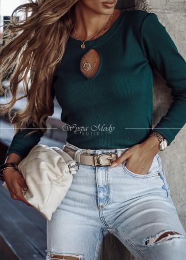 Bluzka/sweterek łezka butelkowa zieleń Xana