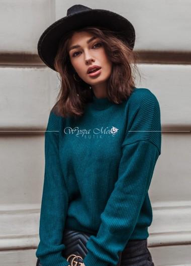 Sweterek Fibo green