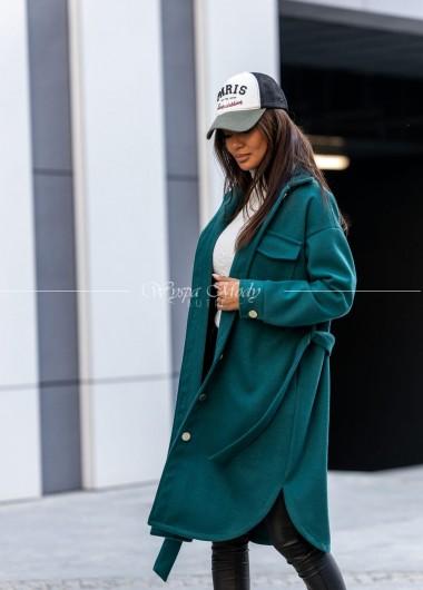 Płaszcz Ester butelkowa zieleń
