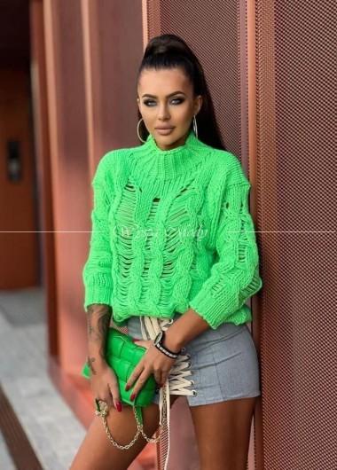 Sweter Fenix neon green