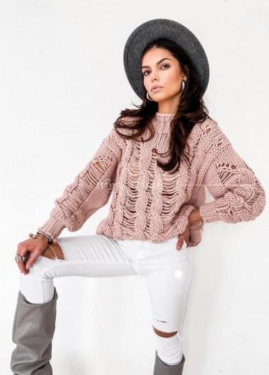 Sweter Fenix dirty pink