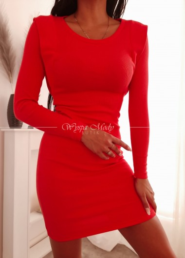 Sukienka prążek Me gusta red