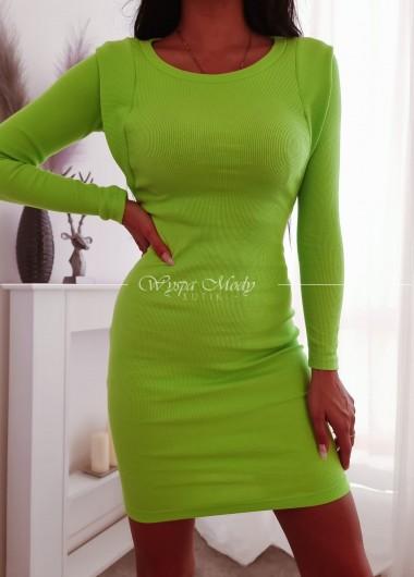 Sukienka prążek me gusta green