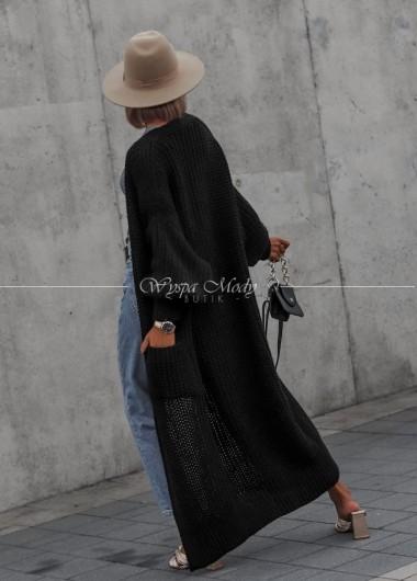 Kardigan long Tulum black