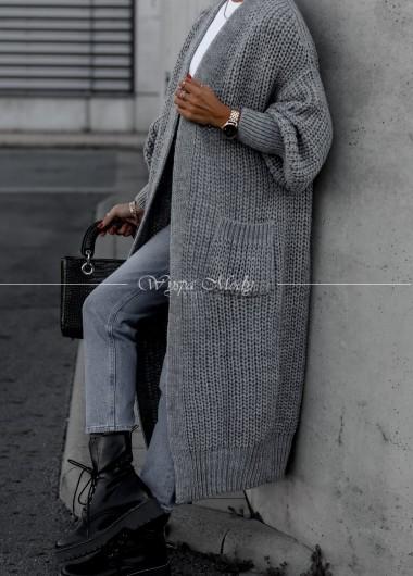Kardigan long Tulum grey