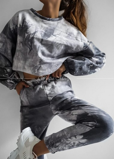 Komplet dresowy marmurek grey