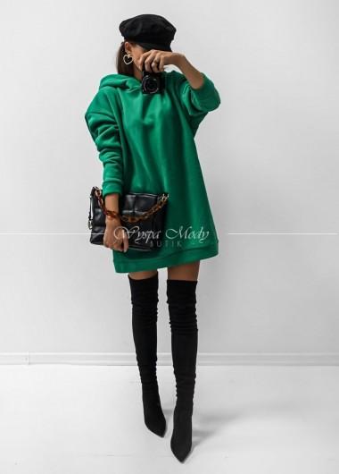 Bluza long green