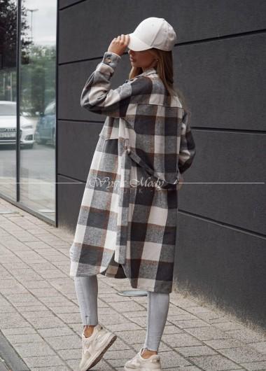 płaszcz krata grey