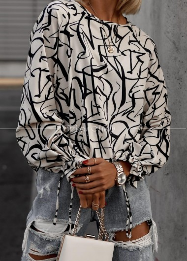 Koszula Samantha white & black