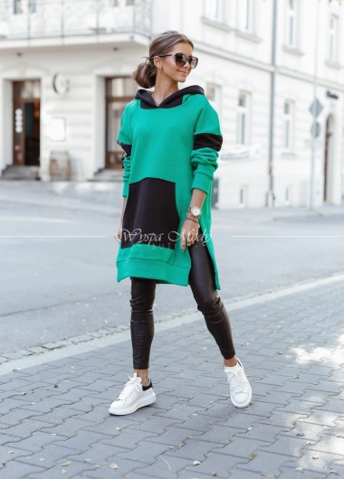 Bluza long best green