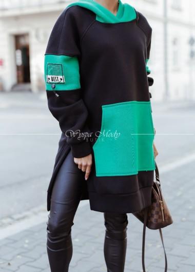 Bluza long best black