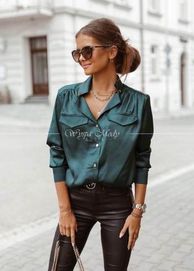 Koszula satynowa green