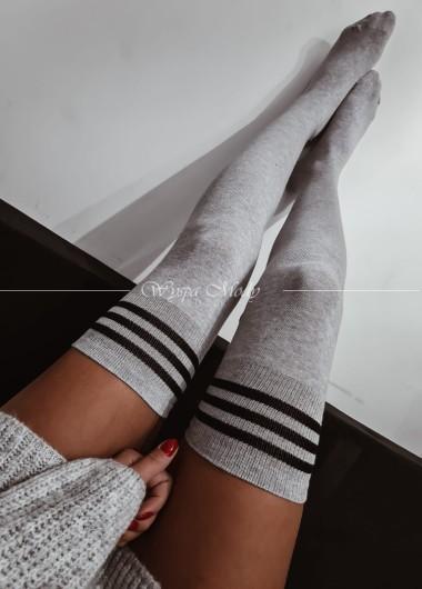Podkolnówki paski grey